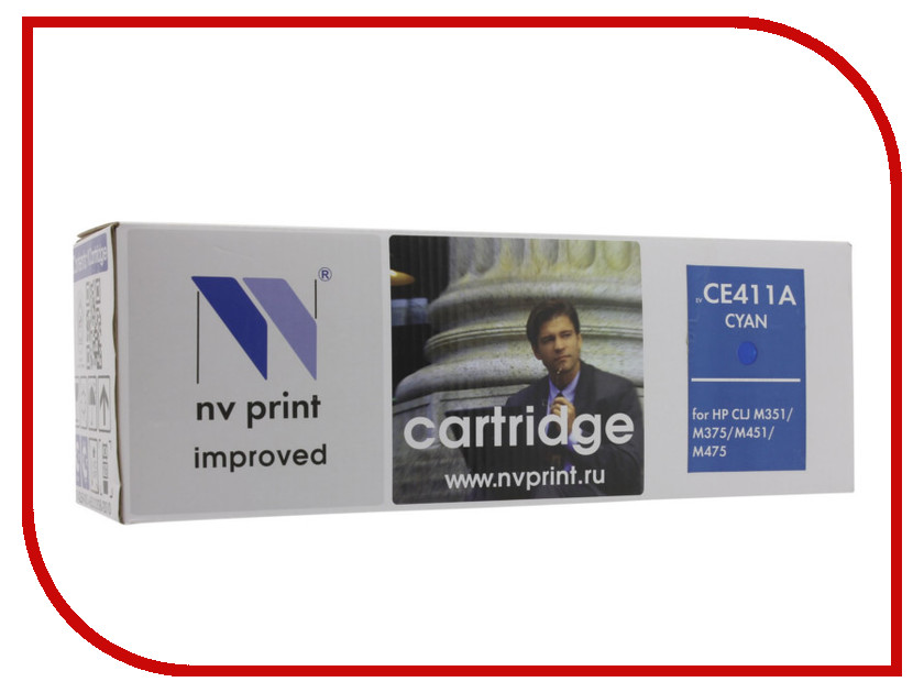 Картридж NV Print HP CE411A Cyan для LaserJet Color M351a/M375nw/M451dn/M451dw/M451nw/M475dn/M475dw 2600k new paper delivery tray assembly output paper tray rm1 6903 000 for hp laserjet hp 1102 1106 p1102 p1102w p1102s printer