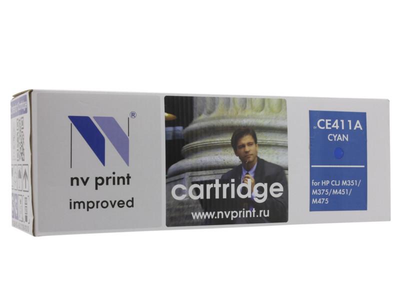 Картридж NV Print HP CE411A Cyan для LaserJet Color M351a/M375nw/M451dn/M451dw/M451nw/M475dn/M475dw 2600k картридж струйный hp c9391ae n 88xl cyan with vivera ink