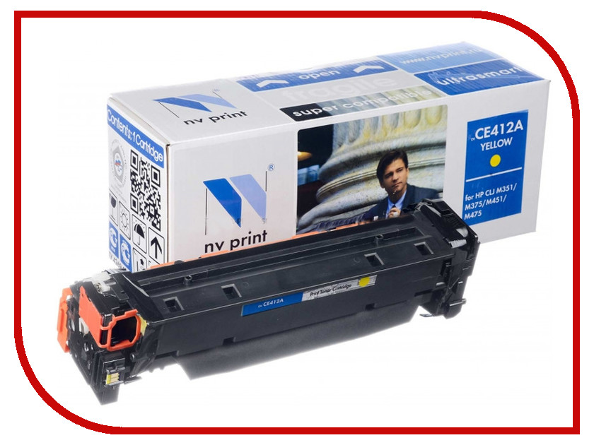 Картридж NV Print HP CE412A Yellow для LaserJet Color M351a/M375nw/M451dn/M451dw/M451nw/M475dn/M475dw 2600k new paper delivery tray assembly output paper tray rm1 6903 000 for hp laserjet hp 1102 1106 p1102 p1102w p1102s printer