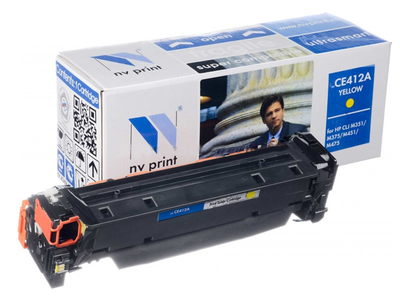 Картридж NV Print HP CE412A Yellow для LaserJet Color M351a/M375nw/M451dn/M451dw/M451nw/M475dn/M475dw 2600k