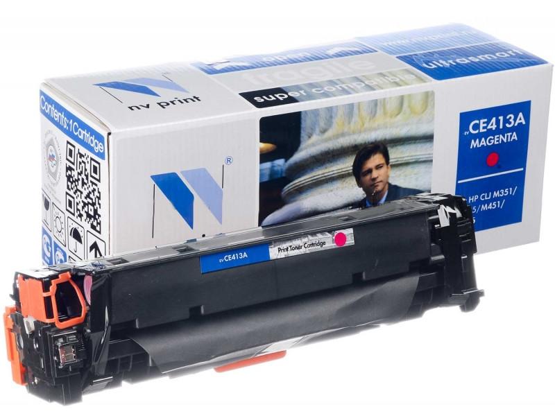 Картридж NV Print HP CE413A Magenta для LaserJet Color M351a/M375nw/M451dn/M451dw/M451nw/M475dn/M475dw 2600k