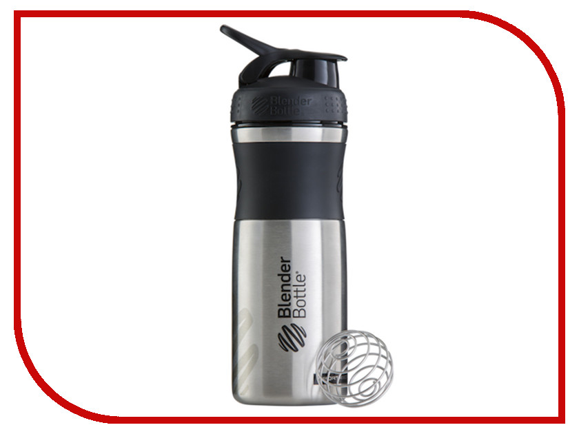 Шейкер BlenderBottle SportMixer Stainless 828ml Black-Black BB-SMST-BLBL