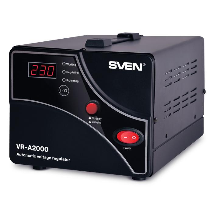 цена на Стабилизатор Sven VR-A2000 Black SV-014414