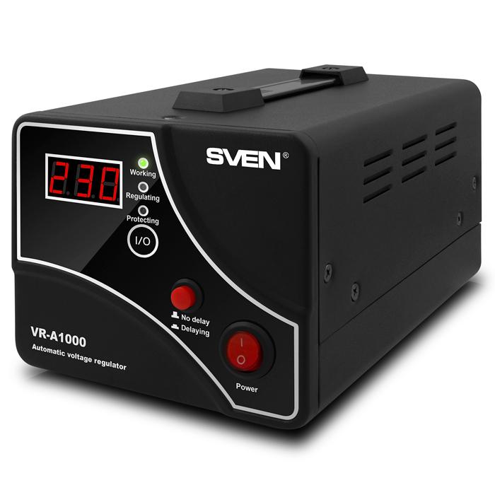 цена на Стабилизатор Sven VR-A1000 Black SV-014407