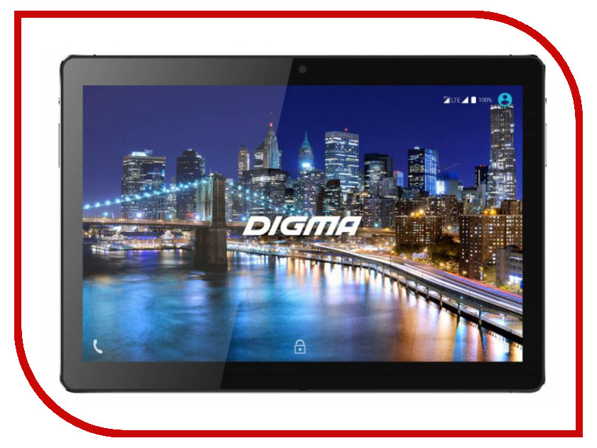 Планшет Digma CITI 1508 4G (MediaTek MT8735W 1.3 GHz/4096Mb/64Gb/Wi-Fi/3G/4G/Bluetooth/GPS/Cam/10.1/1920x1200/Android)