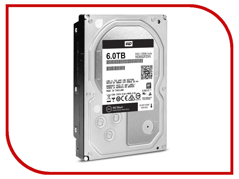 Жесткий диск 6Tb - Western Digital WD6002FZWX жесткий диск пк western digital wd40ezrz 4tb wd40ezrz