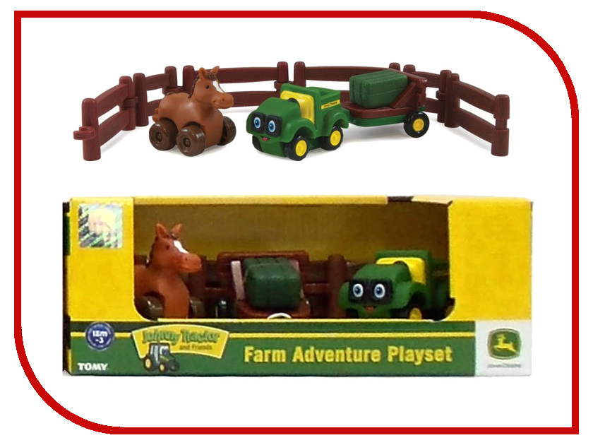 Игра Tomy Приключения трактора Джонни и лошади на ферме 37722-2 tomy игровой набор приключения трактора джонни и поросенка на ферме с 18 мес