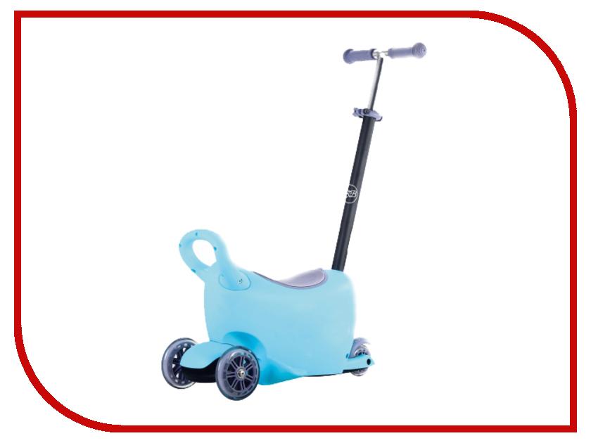 Самокат Sweet Baby Triplex 6 в 1 Blue 378211 самокаты sweet baby самокат 4 х колесный sweet baby triplex maxi blue складной