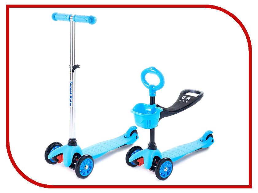 Самокат Sweet Baby Triplex Seat Blue 314075 самокаты sweet baby самокат 4 х колесный sweet baby triplex maxi blue складной