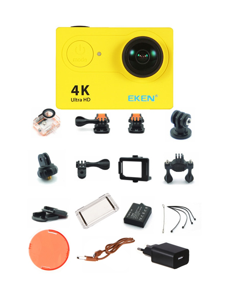 Фото - Экшн-камера Eken H9 Ultra HD Yellow экшн камера eken h9r black