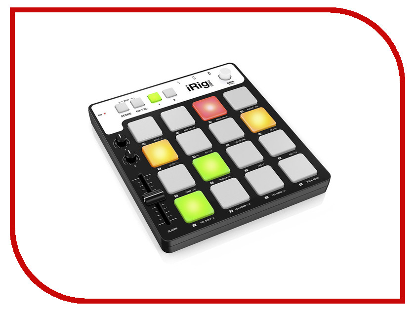 MIDI-контроллер IK Multimedia iRig Pads MIDI midi контроллер alesis sample pad