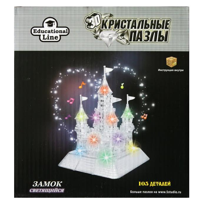 где купить 3D-пазл Город игр 3D Crystal Puzzle Замок XL Светильник HJ038703 дешево