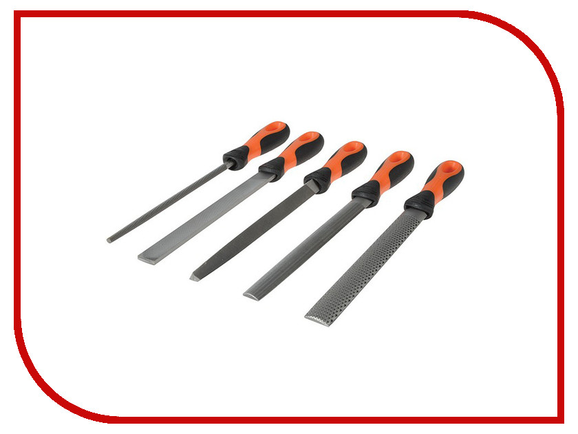 Набор напильников BAHCO 5шт 1-477-08-2-2 набор надфилей 9 шт bahco 2 471 16 1 0