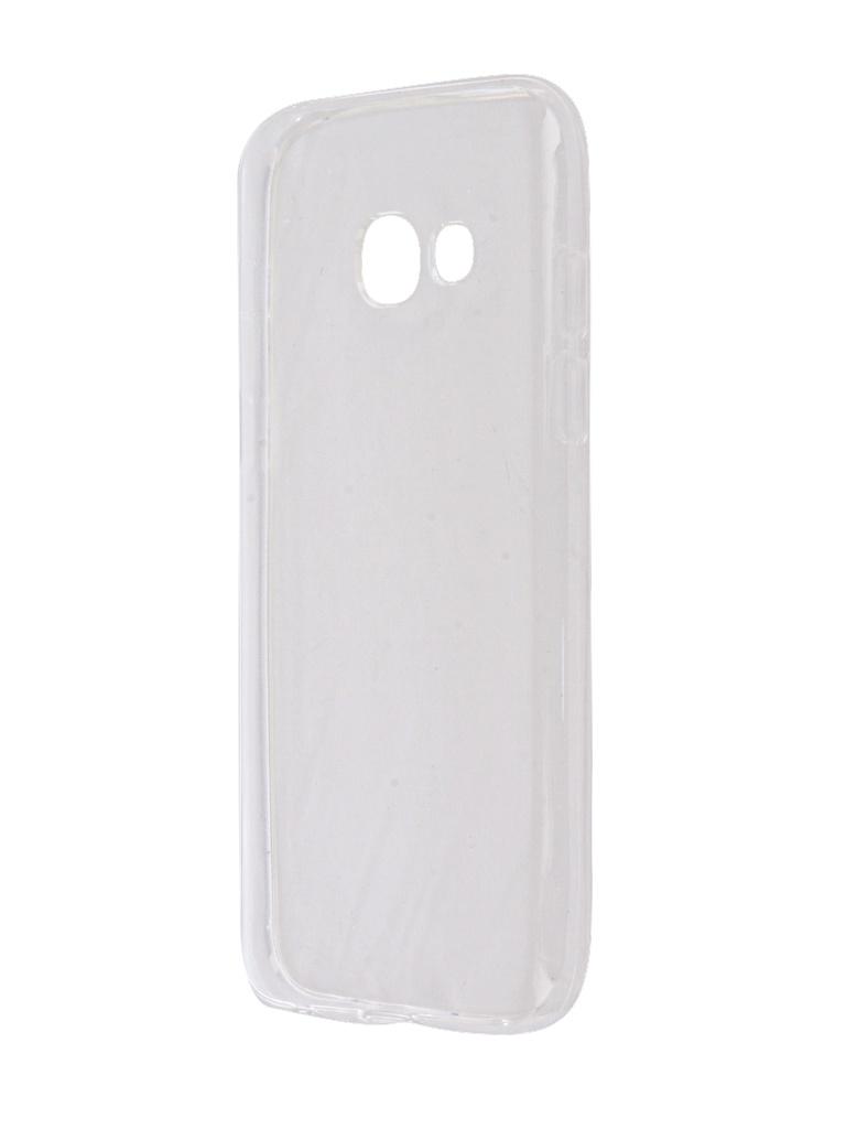 Аксессуар Чехол Krutoff Silicone для Samsung Galaxy A3 2017 SM-A320F Transparent 11791 g case slim premium чехол для samsung galaxy a3 2017 sm a320f black