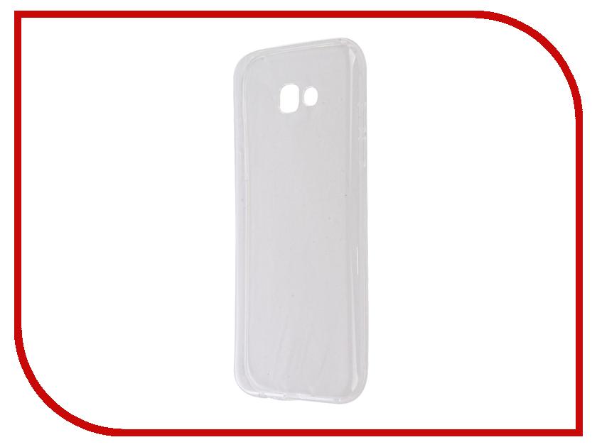 Аксессуар Чехол для Samsung Galaxy A7 2017 SM-A720F Krutoff Silicone Transparent 11793 аксессуар защитное стекло samsung galaxy a7 2017 sm a720f krutoff group 3d white 20242