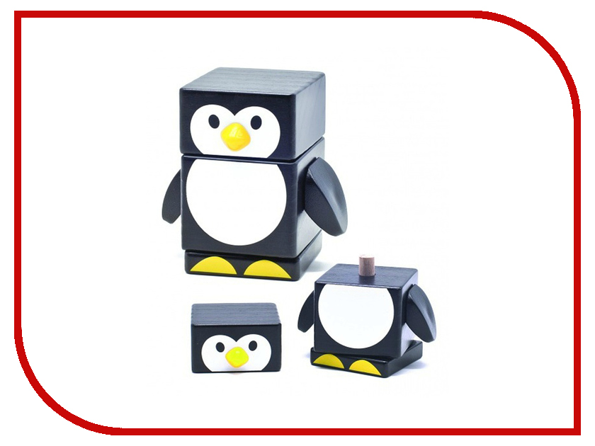 Игрушка Бомик Пирамидка Пингвин 809 пазлы бомик вкладыш бабочки