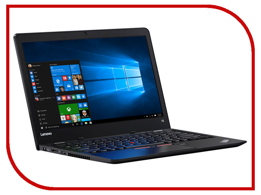 Ноутбук Lenovo ThinkPad 13 20J1S01400 (Intel Core i3-7100U 2.4 GHz/4096Mb/180Gb SSD/No ODD/Intel HD Graphics/Wi-Fi/Bluetooth/Cam/13.3/1366x768/Windows 10 64-bit)<br>