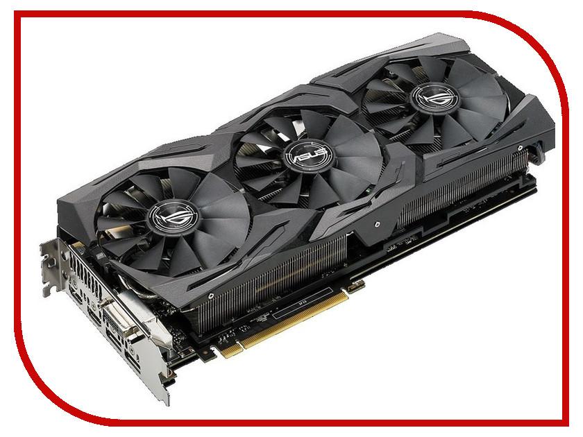 Видеокарта ASUS GeForce GTX 1080 Ti 1708MHz PCI-E 3.0 11264Mb 11100Mhz 352 bit DVI 2xHDMI HDCP ROG-STRIX-GTX1080TI-O11G-GAMING asus radeon rx 460 1200mhz pci e 3 0 4096mb 7000mhz 128bit dvi hdmi dp hdcp strix rx460 4g gaming