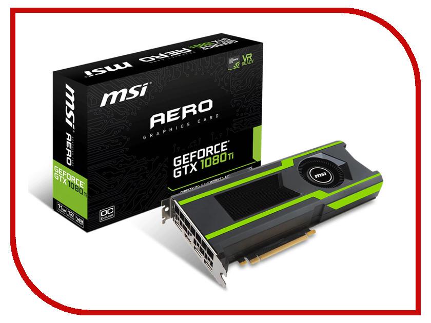 Видеокарта MSI GeForce GTX 1080 Ti 1620Mhz PCI-E x16 3.0 11264Mb 11016Mhz 352 bit HDMI GTX 1080 Ti AERO 11G OC купить geforce gtx 980 msi