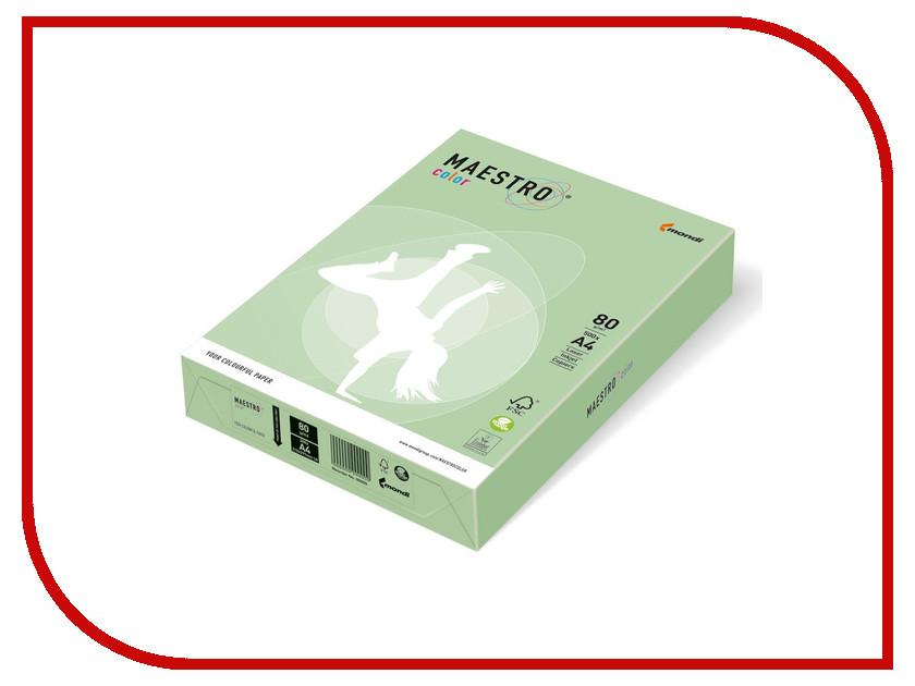 Бумага Maestro Color A4 80g/m2 500 листов Medium Green MG28 110230