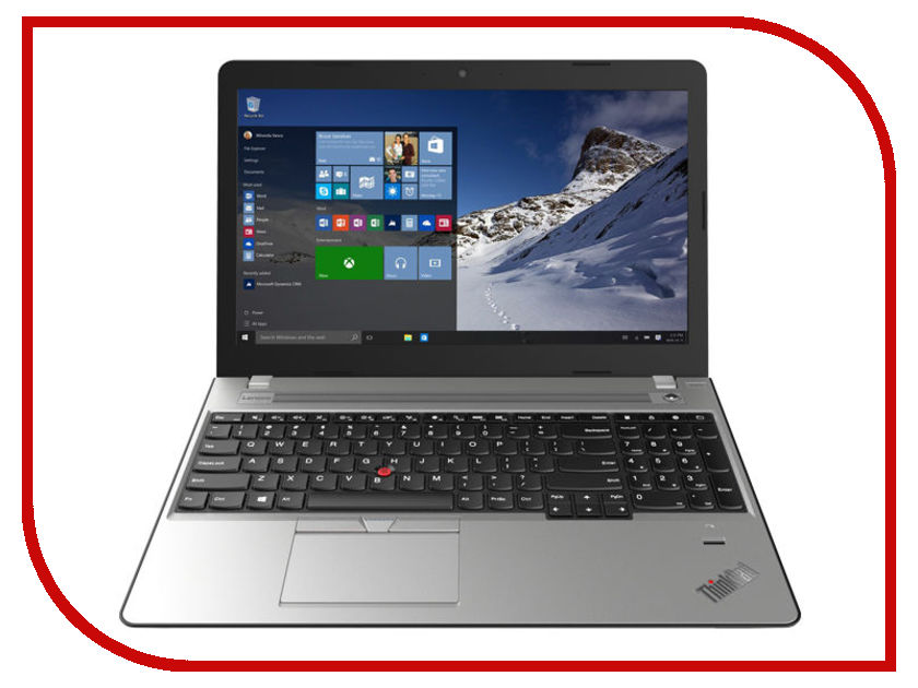 Ноутбук Lenovo ThinkPad Edge 570 20H5S00200 Black-Silver (Intel Core i5-7200U 2.5 GHz/8192Mb/500Gb + 128Gb SSD/DVD-RW/Intel HD Graphics 620/Wi-Fi/Bluetooth/Cam/15.6/1366x768/Windows 10)