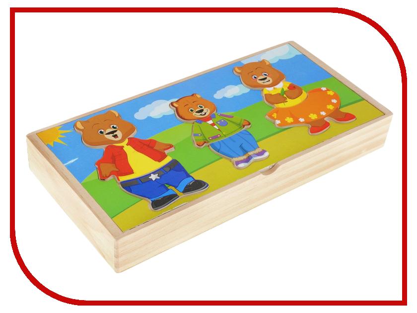Сортер Мир деревянных игрушек Три медведя Д164<br>