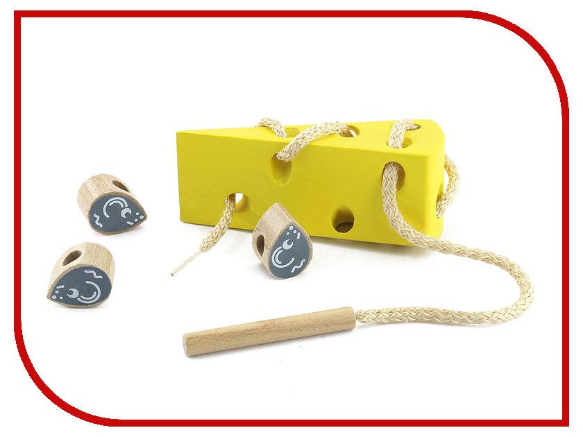 Игрушка Мир деревянных игрушек Шнуровка Сыр Д264