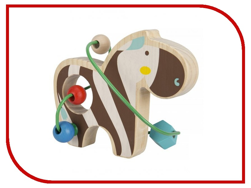 Игрушка Мир деревянных игрушек Лабиринт Зебра Д346 игрушка мир деревянных игрушек лабиринт буренка д384