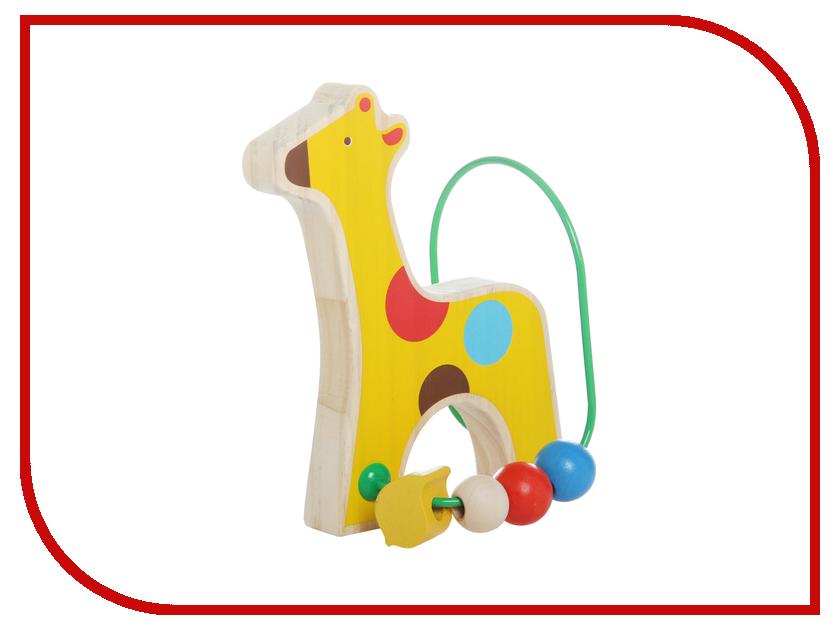 Игрушка Мир деревянных игрушек Лабиринт Жираф Д348 мир деревянных игрушек лабиринт каталка жираф