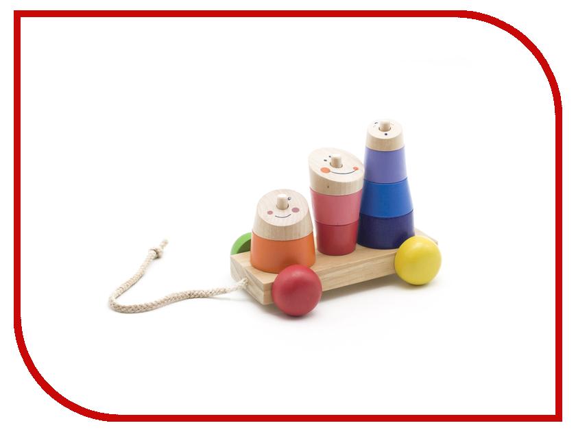 игрушка Мир деревянных игрушек Пирамидка-каталка Д355 мир деревянных игрушек пирамидка каталка кот и собака д353