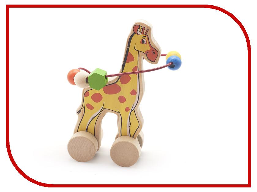 Игрушка Мир деревянных игрушек Лабиринт-каталка Жираф Д358
