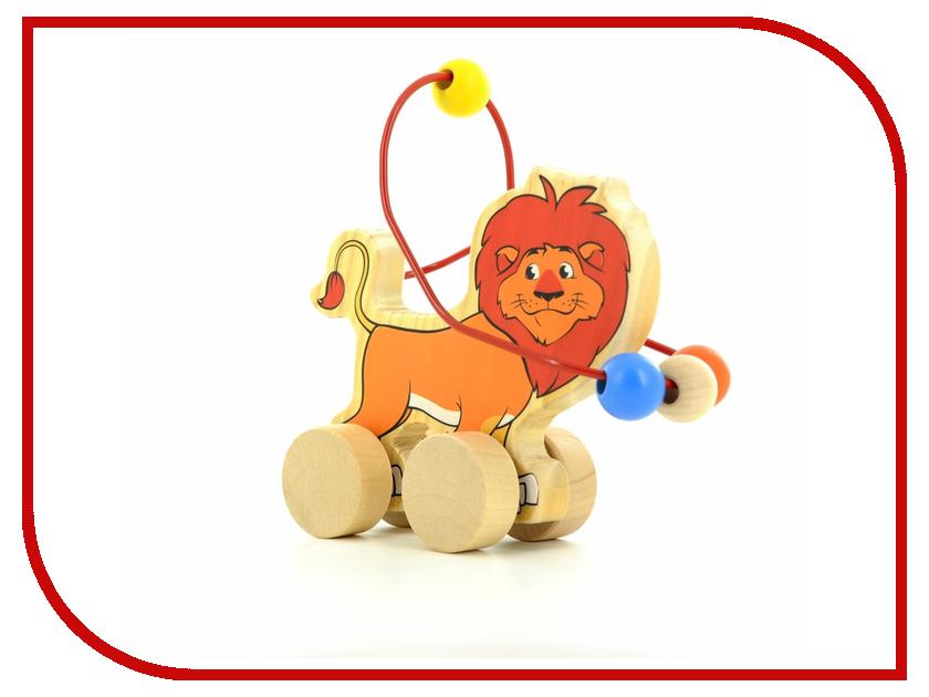 Игрушка Мир деревянных игрушек Лабиринт-каталка Лев Д359 мир деревянных игрушек лабиринт каталка жираф