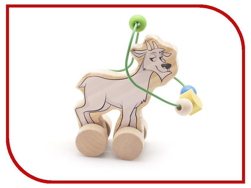 Игрушка Мир деревянных игрушек Лабиринт-каталка Козел Д360 пошел козел на базар