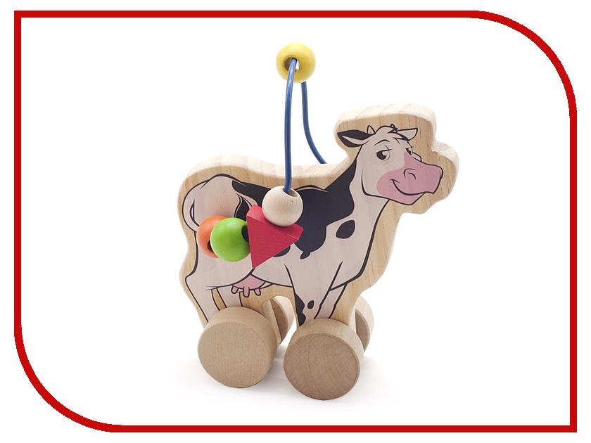 Игрушка Мир деревянных игрушек Лабиринт-каталка Корова Д361 мир деревянных игрушек лабиринт лева д386