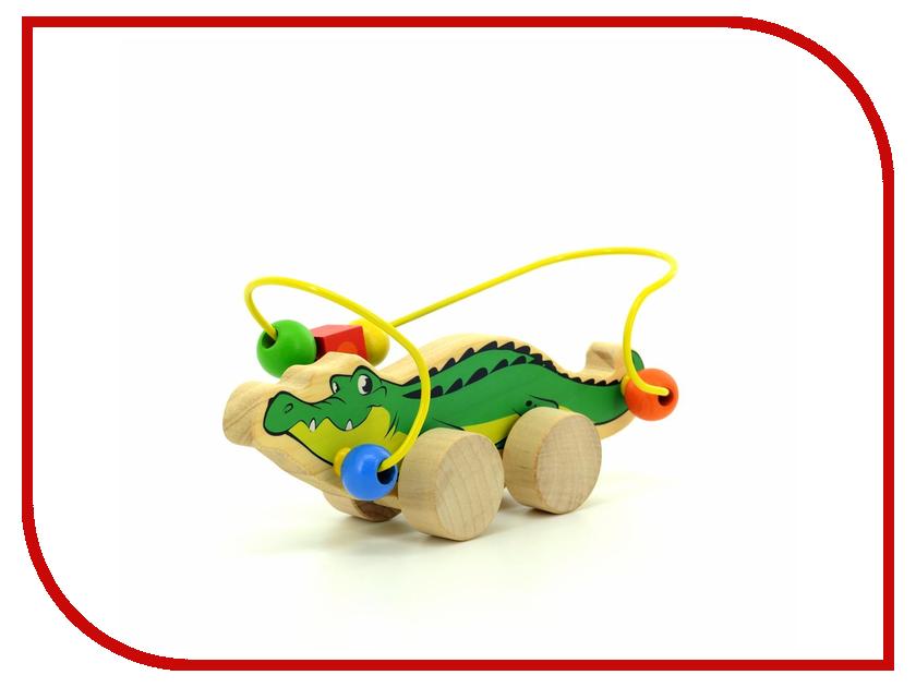 Игрушка Мир деревянных игрушек Лабиринт-каталка Крокодил Д362 игрушка мир деревянных игрушек лабиринт каталка крокодил д362