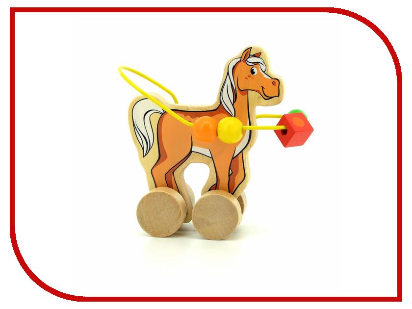 Игрушка Мир деревянных игрушек Лабиринт-каталка Лошадь Д364
