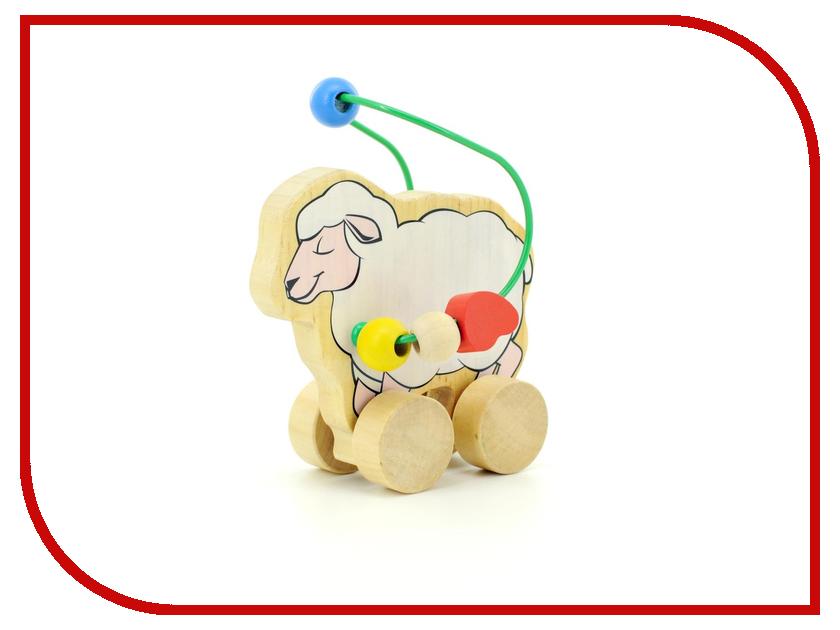 Игрушка Мир деревянных игрушек Лабиринт-каталка Овца Д366 игрушка мир деревянных игрушек лабиринт каталка крокодил д362