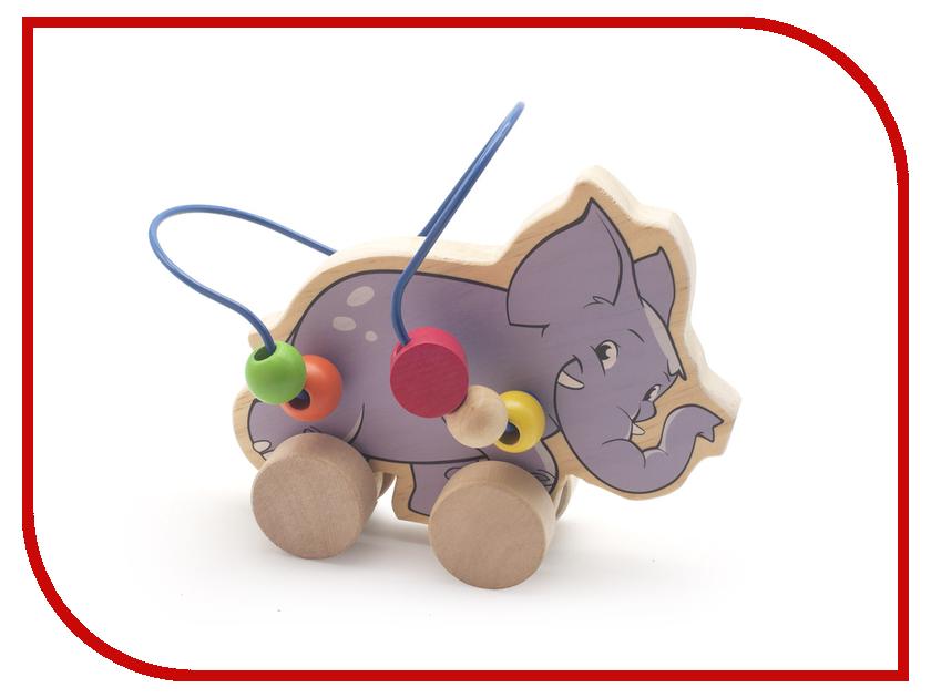 Игрушка Мир деревянных игрушек Лабиринт-каталка Слон Д368 мир деревянных игрушек лабиринт каталка жираф