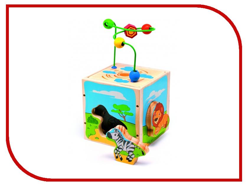 Игрушка Мир деревянных игрушек Куб Сафари Д373 игрушка мир деревянных игрушек лабиринт слон д345
