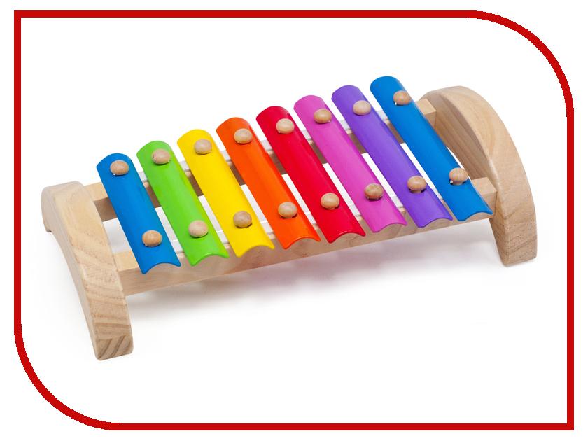 Детский музыкальный инструмент Мир деревянных игрушек Ксилофон 8 тонов Д379