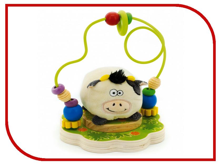 Игрушка Мир деревянных игрушек Лабиринт Буренка Д384 игрушка мир деревянных игрушек лабиринт каталка лев д359