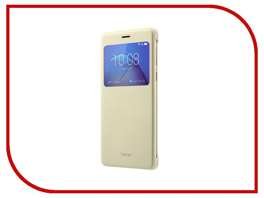 Аксессуар Чехол Huawei Honor 6X View Cover Gold