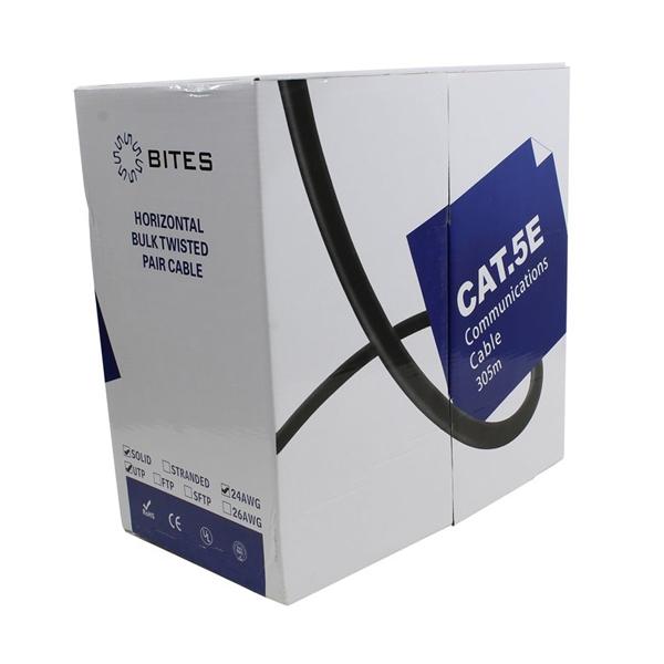 Сетевой кабель 5bites UTP / SOLID 5E 24AWG CCA PVC BLUE 305M US5505-305A-BL