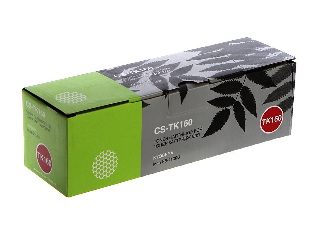 Картридж Cactus CS-TK160 Black для Kyocera Mita FS 1120D/1120DN/1120 2500 стр картридж cactus cs tk160 черный 2500стр для kyocera mita fs 1120 черный