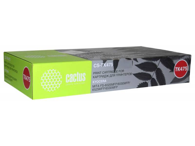Картридж Cactus CS-TK475 Black для Kyocera FS-6025/B/6030 15000стр