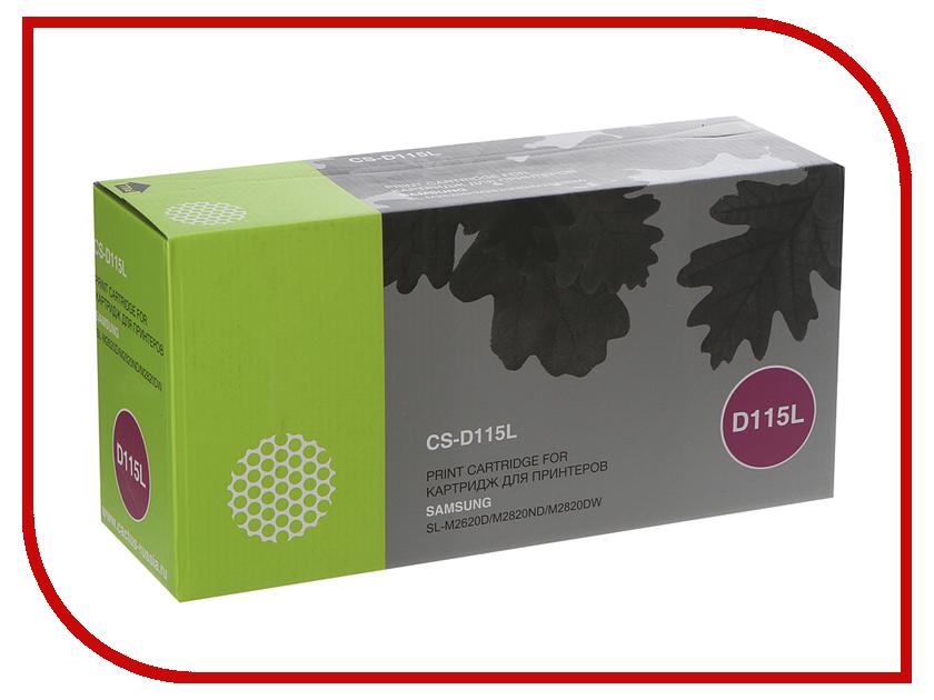 Картридж Cactus CS-D115L Black для Samsung SL-M2620D/M2820ND/M2820DW 3000 стр картридж cactus 520 cs pgi520bk black