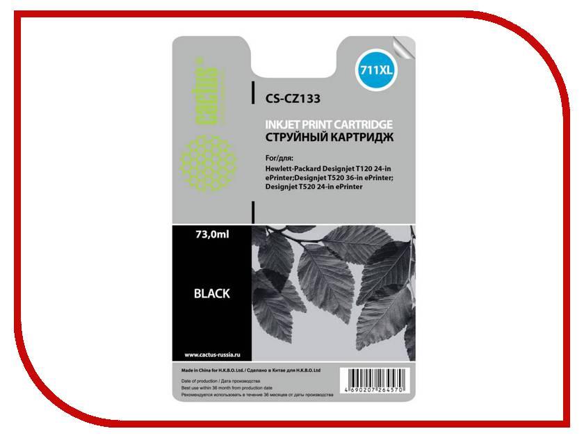 Картридж Cactus CS-CZ133 №711 Black для HP DJ T120/T520 73мл тонер картридж cactus cs ep22s