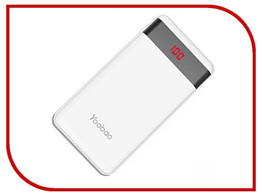 Аккумулятор Yoobao PL12 Pro 12000mAh White аккумулятор yoobao yb 6012 pro 6200mah gold