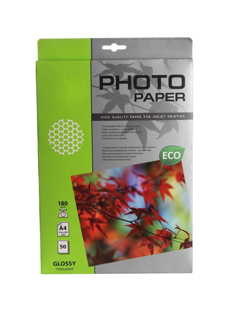 Фото - Фотобумага Cactus CS-GA418050E A4 180g/m2 50 листов White Glossy фотобумага