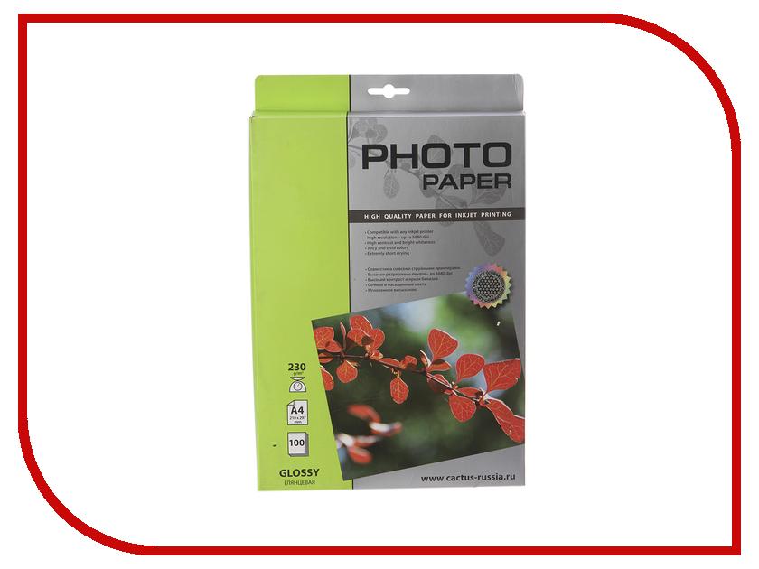 Фотобумага Cactus CS-GA4200100 A4 200g/m2 100 листов White Glossy бумага iq premium a4 200g m2 250 листов a 169